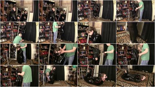 Elizabeth Andrews - Catsuit Leather Strap Hogtie