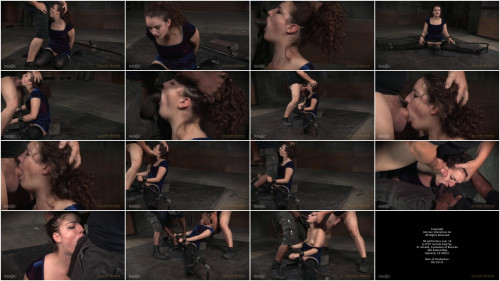 Curly haired newbie Endza bound into the splits and facefucked