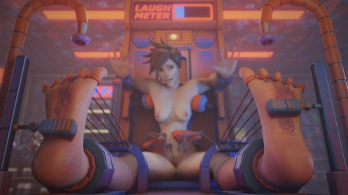 Tracer Tickled in D.Va's Arcade [2021,All sex,3D]