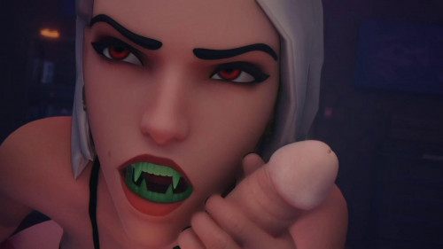Ashe and Mercy Fu-Tastic Halloween [2021,3D,All sex]