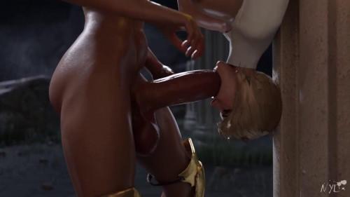 3d Wonderwoman Futa Powergirl