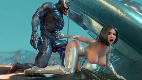Busty Babe Angelita Fucked By Venom [2019,Big Breasts,Cumshot,3DCG]