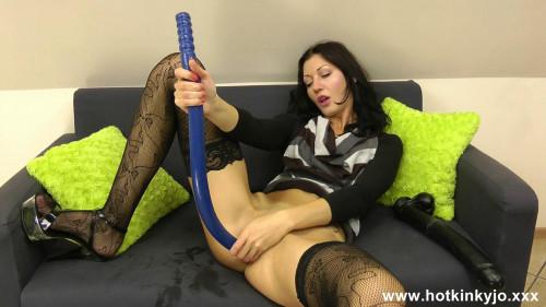 70cm long dildo full in ass!!!
