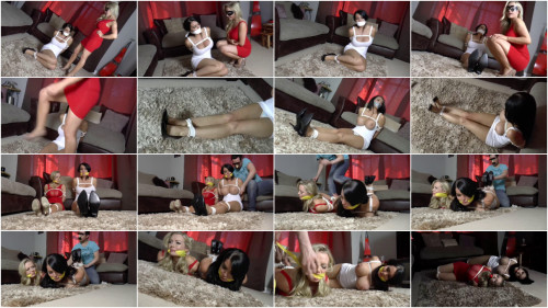 Super tying and predicament for 2 hawt harlots part 2