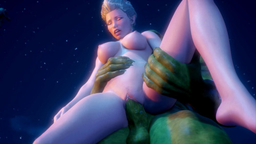 A Mysterious Ritual [2018,Big Breasts,Elf,3DCG]