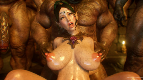 Elf Slave 4 - Cross Fate [Big Ass,Huge Cock,Oviposition (Egg Laying)]