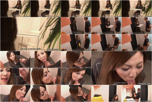 New assistant yuria kanno shows her oral-sex skills