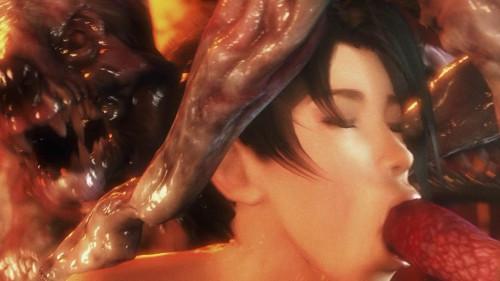 Kunoichi 2: Fall of the Shrinemaiden Bonus [Fantasy,DP,Demons]