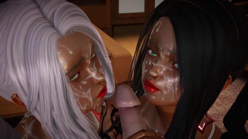 Twin Blowjobs [2021,Blowjob,Animation,Big Tits]