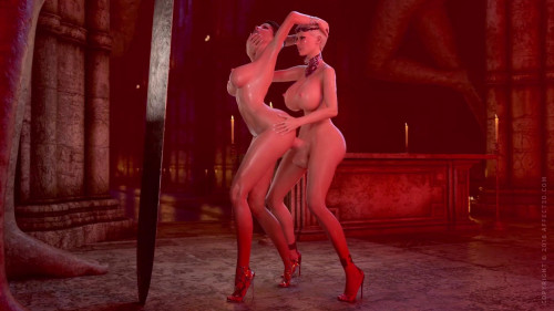 Vampire Cerene and Duchess Sophia alone together [2018,Animation,Big Ass,Femdom]