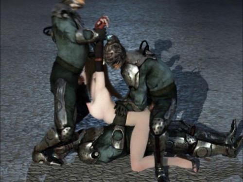 Hard Orgy For Captured Slave