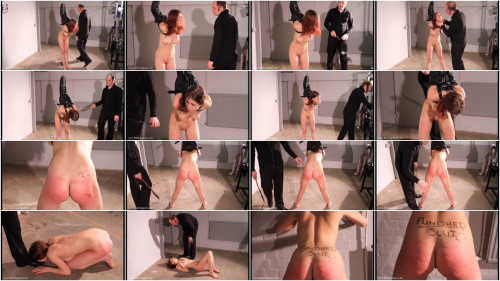 Tight restraint bondage, strappado and spanking for undressed model HD 1080p