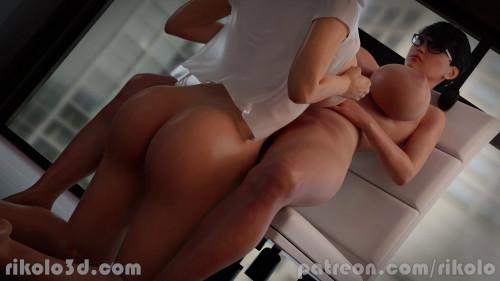 Hana Gets Titfuck from Supro's Lana [2020,All sex,3D]