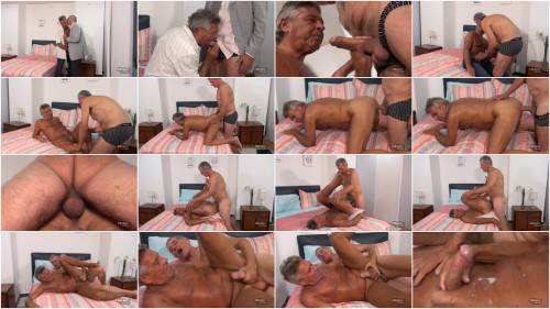 Older4Me - Straight Daddy Takes a Big Dick - Chaco & Paulino 1080p