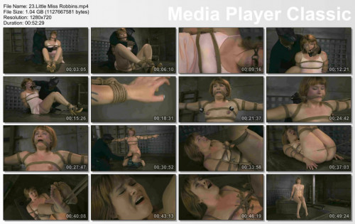 Little Miss Robbins In BDSM hard play