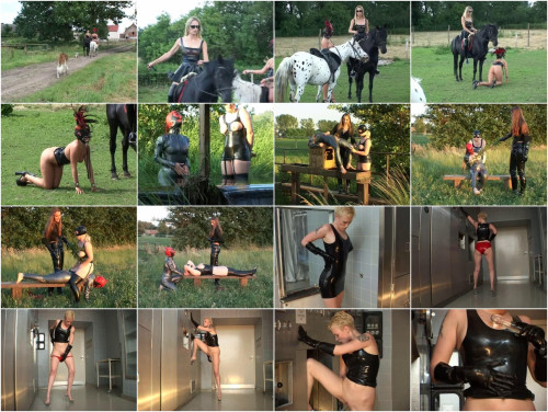 Schwarze Flamme - Latex Nymphen Ponygirl
