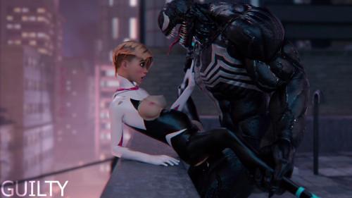 Spider Gwen and Venom [2021,3D,All sex]