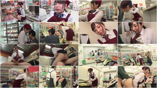 Women Who Work In Uniforms At The Supermarket