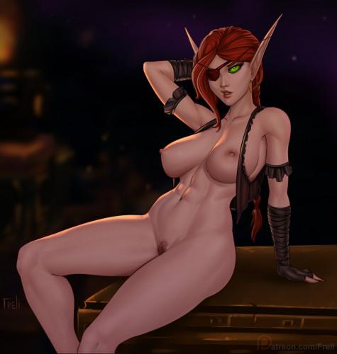 Frelia [horns,elves,horny girl]