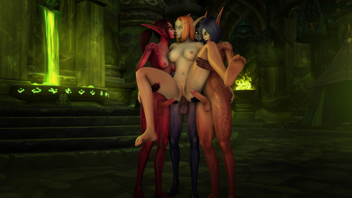 Tektah Art [Foursome,Anal,Futa on Futa]