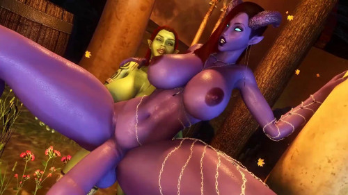 Draenei and Orc [2021,All sex,3D]