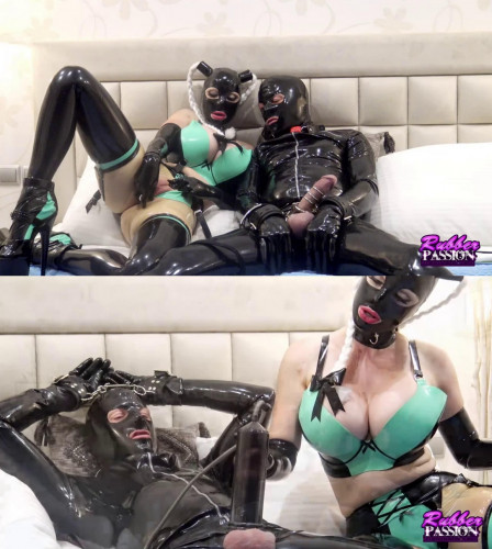 Bondage, torture and domination for very sexy blonde in latex