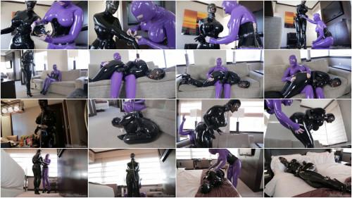 Super restraint bondage and domination for sexy slavegirl in latex