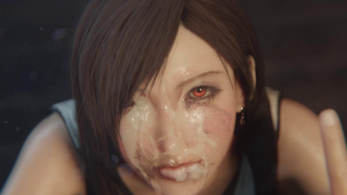 Tifa facial Goth Black [2021,3D,All sex]