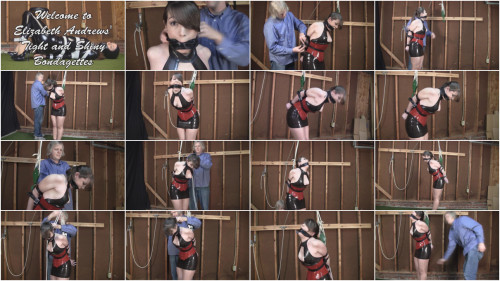 Elizabeth Andrews Latexed, Strapped, and Gagged