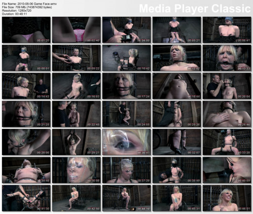Delicate blonde in a hot BDSM