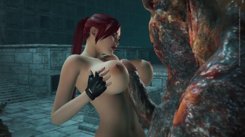 Busty Babe Velna Destroyed By Monster [2016,3DCG,Huge Cock,Animation]
