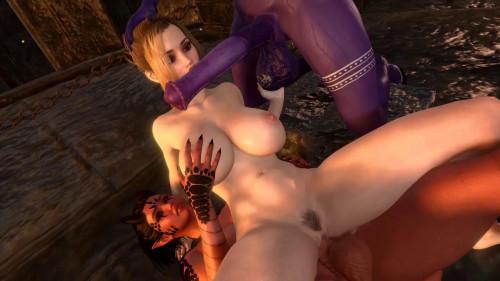 Monster Girls Threesome [2021,All sex,3D]