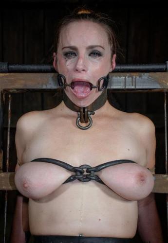Ram cock down slaves throat