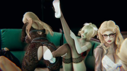 H4r3m - Blonde Heaven - Foreplay [3D Porn Comic,group,h4r3m]