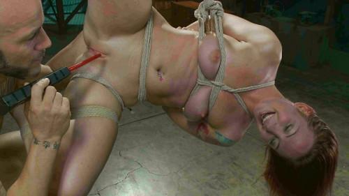 Sexy Sophia Locke gets brutally fucked in tight bondage