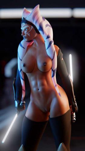 El-Recondite - Ahsoka under the lights (Star Wars) [3D Porn Comic,interracial,el-recondite]