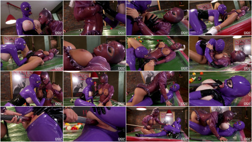 Latex Lesbian Sex on Pool Table - Latex Lucy and Black Angelika - Full HD 1080p