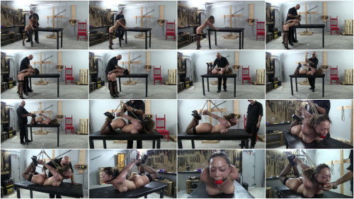 Super restraint bondage, spanking and wrist and ankle bondage for nice-looking undressed whore Full HD 1080p