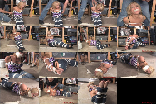 Mom tied up, gagged tight and stashed out of his way