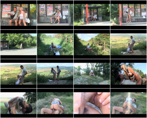 Ooutdoor doggystyle for the blondie