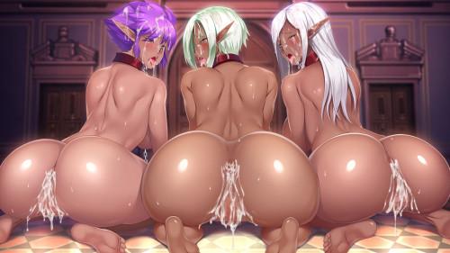 Kyonyuu Onna Senshi Dogeza Saimin [Big Tits,All Sex,Elf]