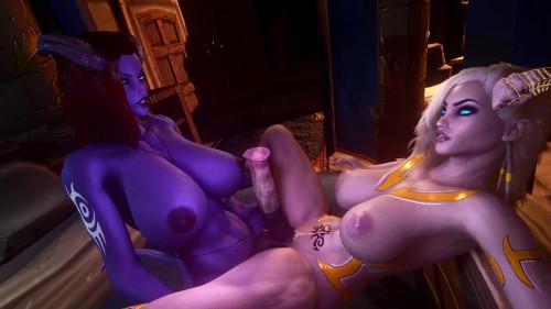 Draenei Love [2021,All sex,3D]