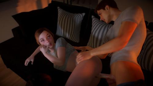 Movie Night Chapter 1-2 [2020,Vaginal sex,Group sex,Visual novel]