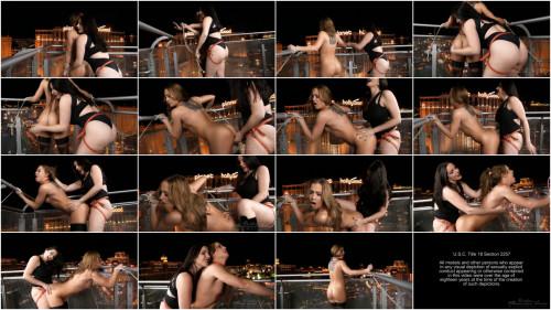 Vegas Balcony Fuck - Goddess Alexandra Snow & Cheyenne Jewel - HD 720p