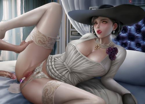 Big Mommy Milkers (Resident Evil) [big nipples,stockings,Porn Comics]
