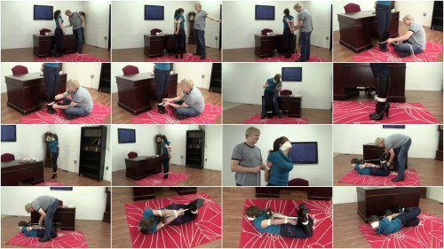 Elizabeth Andrews Hogtied In Boots And Jeans (2015)