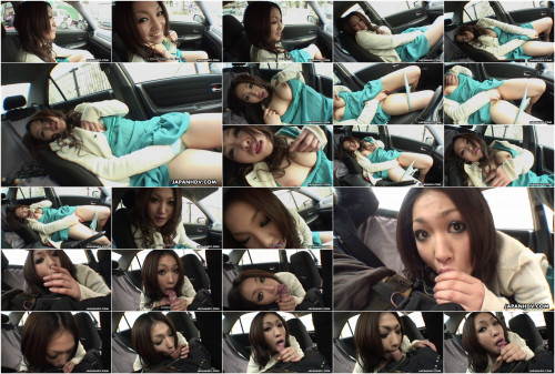 Yu yamashita receives cold and teases her body in the car