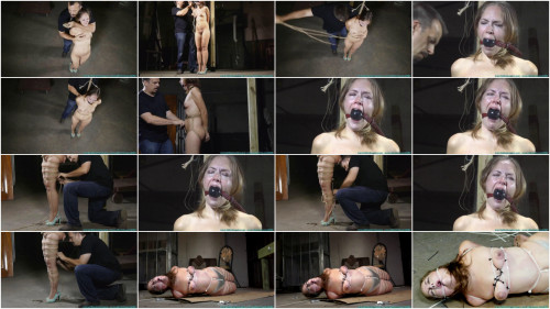 Hard bondage, hogtie and strappado for naked sexy girl part 1