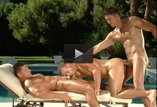 Huge Trunks Bareback At Pool