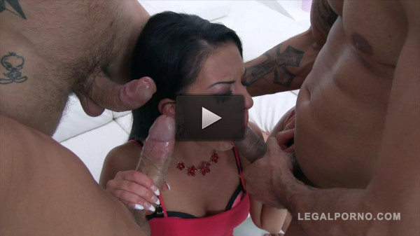 Inga Devil Takes 3 Cocks In The Ass At The Same Time Slut Triple Anal.